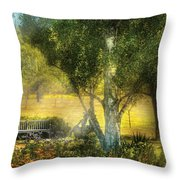 Bench - I Had This Dream And It All Began Throw Pillow