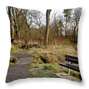 Bench In Polkemmet Park. Throw Pillow