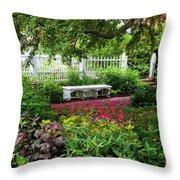 Bench In Prescott Park Throw Pillow