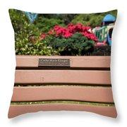 Bench In Steelhead Park Throw Pillow