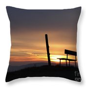 Bench In The Morning Throw Pillow