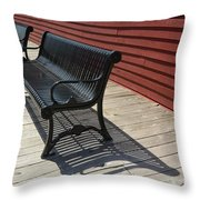 Bench Lines And Shadows 0841 Throw Pillow