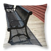 Bench Lines And Shadows 0862 Throw Pillow
