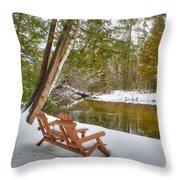 Bench Of Solitude Throw Pillow