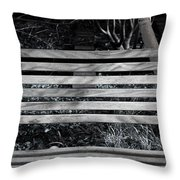 Bench Theory Throw Pillow