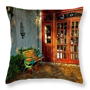 Benched In Fairhope Alabama Throw Pillow