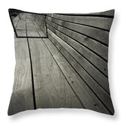 Bench's Perspective Throw Pillow