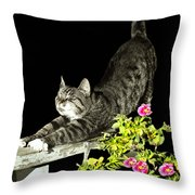 Bend And Stretch Throw Pillow