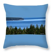 Bend In Columbia Throw Pillow