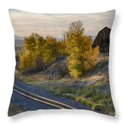 Bend In The Tracks Throw Pillow