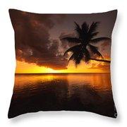 Bending Palm Throw Pillow