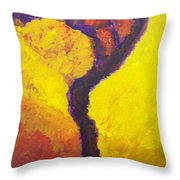 Bendy Tree Throw Pillow