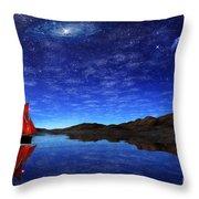 Beneath A Jewelled Sky Throw Pillow