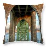 Beneath The Bridge Throw Pillow