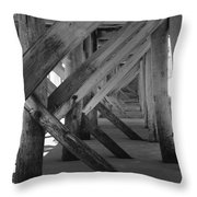 Beneath The Docks Day Throw Pillow