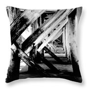 Beneath The Docks Night Throw Pillow