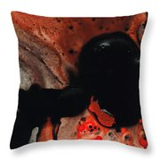 Beneath The Fire - Red And Black Painting Art Throw Pillow