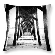 Beneath The Pier Throw Pillow