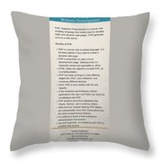 Benefits Of Using Php As Website Development Throw Pillow