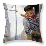 Beneker: The Engineer, 1913 Throw Pillow by Granger