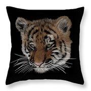 Bengal Tiger Cub Throw Pillow