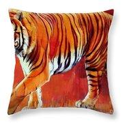 Bengal Tiger  Throw Pillow by Mark Adlington