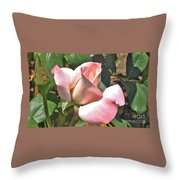 Benicia Pink 3 Throw Pillow