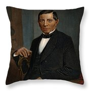 Benito Juarez (1806-1872) Throw Pillow by Granger