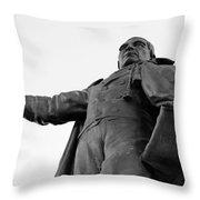 Benito Juarez Statue Throw Pillow