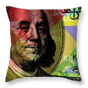 Benjamin Franklin - $100 Bill Throw Pillow