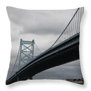 Benjamin Franklin Bridge Philadelphia Throw Pillow