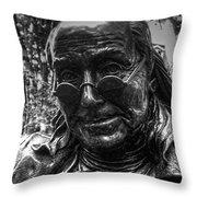 Benjamin Franklin Memorial Throw Pillow