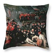 Benjamin West Throw Pillow by The Death of Nelson