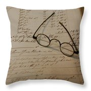 Benjamin's Glasses Throw Pillow