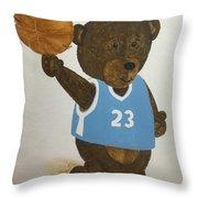 Benny Bear Basketball  Throw Pillow