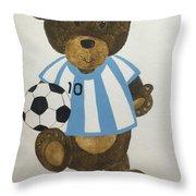 Benny Bear Soccer Throw Pillow