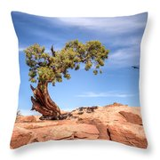 Bent But Not Broken Throw Pillow
