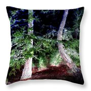 Bent Fir Tree Throw Pillow