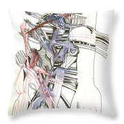 Bent Forks In Hand Throw Pillow
