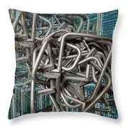 Bent Heavy Wire Throw Pillow