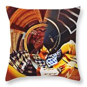 Bent Out Of Shape Throw Pillow