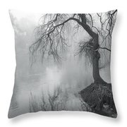 Bent With Gentleness And Time Throw Pillow