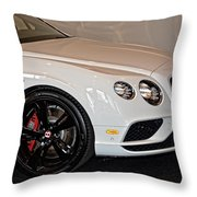 Bentley Continental Gt V8s Throw Pillow