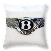Bentley Emblem -0081c Throw Pillow