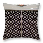 Bentley Grille And Insignia Throw Pillow