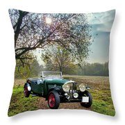 Bentley On A Country Road Throw Pillow
