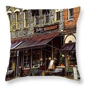 Bentleys Restaurant Woodstock Vermont Throw Pillow