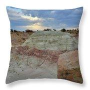Bentonite Dunes Along Little Park Road Throw Pillow