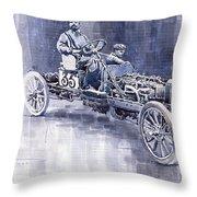 Benz 60hp Targa Florio Rennwagen 1907 Throw Pillow