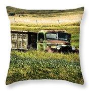 Bereft In A Field Throw Pillow